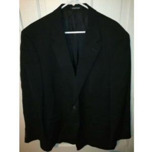 Burberry London 48R Wool Black Sport Coat Jacket